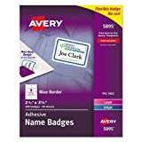 Avery Name Badge - Name badge labels - white - 50 pcs.
